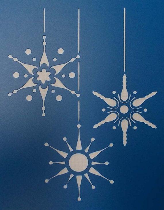 Adornos de Navidad copo de nieve de la plantilla