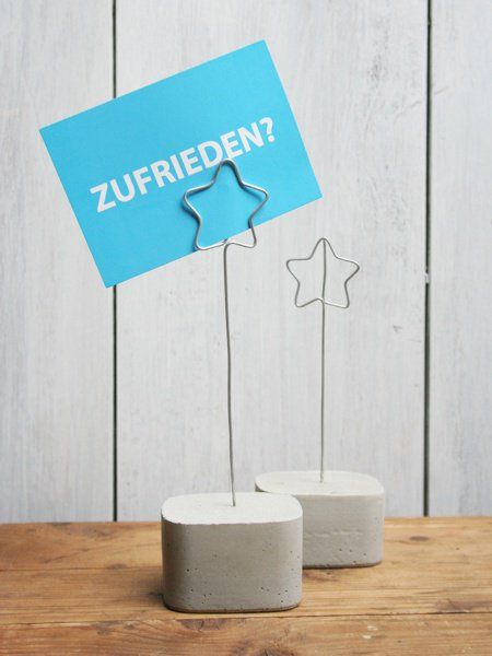 Kartenhalter -Stern & Beton