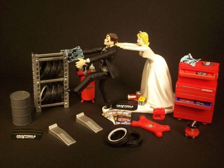 Funny Wedding Cake Topper Mechanics Perfect AUTO MECHANIC TIRES Groom's Cake C | Home & Garden, Wedding Supplies, Wedding Cake Toppers | eBay!