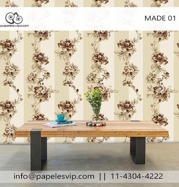 Papeles Vip empapelado floral Made 01 Empapelado  #empapelado #papelesvip #diseños #personalizados #decoracion #deco #homedecor #revestimientos #paredes #wallpaper #interiores #interiordesign #decorar #empapelar #renovacion #interiores #vinilizado #lavable #empapelados #papeles #floral #papelespintados