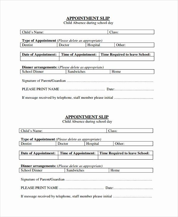 Doctor Visit Form Template Beautiful 8 Appointment Slip Templates In 2021 Card Templates Free Business Card Appointment Free Business Card Templates