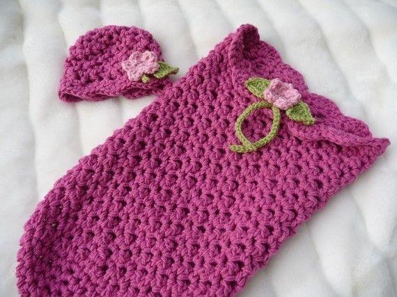 Flower cocoon Crochet Pinterest