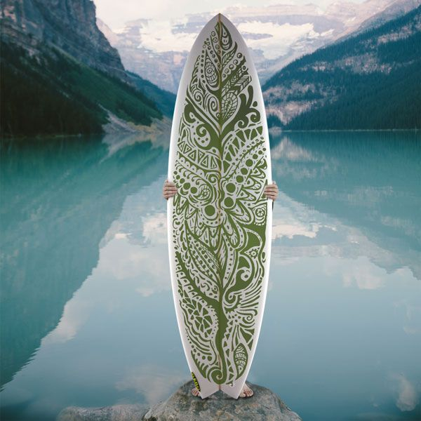 Surfboarddesign Mandala Fora now as Inlay/cloth for your custommade Surfboard, more @freaksoffashion.com