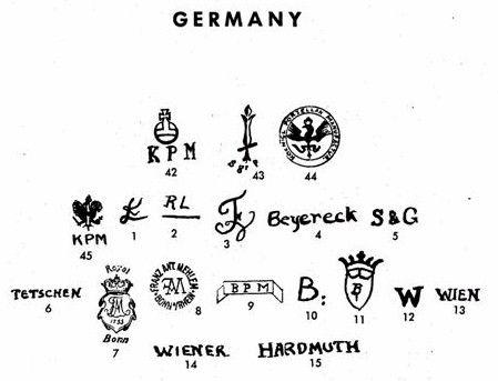 Pottery & Porcelain Marks - Germany - Pg. 2 of 19
