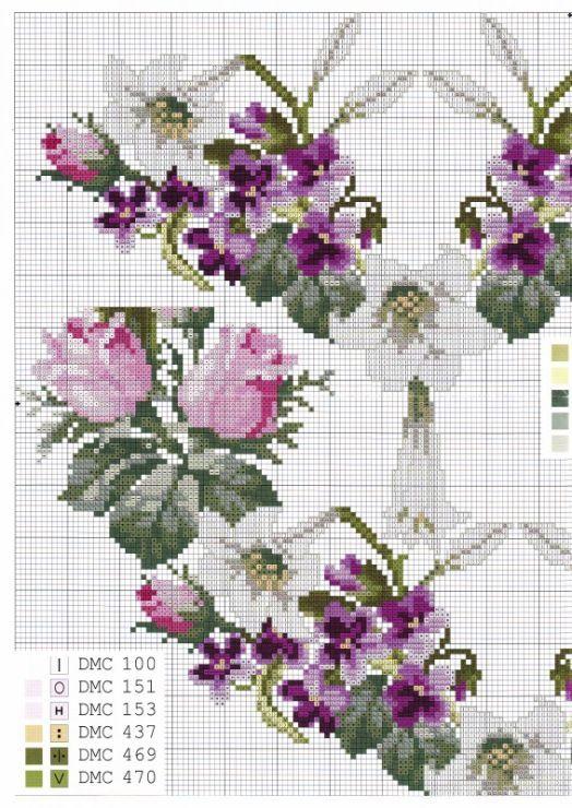 """(100) Gallery.ru / Фото #78 - 154 - markisa81 [   """"Floral Wreaths .... Gallery.ru / Фото - aaa - kento"""",   """"Gallery.ru / irisha-ira - Альбом """"Без названия"""""""",   """"Needlework/Berlin Work Pattern - 1 of 2 2"""",   """"violets and roses"""",   """"purple flowers"""",   """"violete"""",   """"pixels"""" ] # # #Roses #Crossstitch, # #Crosstitch #1, # #Crossstitch #Patterns, # #Flowers #Vegies, # #Flowers #Trees, # #Purple #Flowers, # #2 #Purple, # #Ukranian #Crossstitch, # #Embro..."""