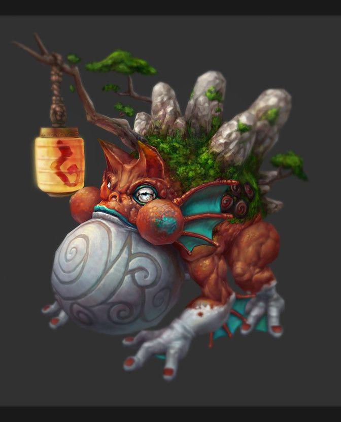 Toad, Hao LIU on ArtStation at https://www.artstation.com/artwork/WdoND