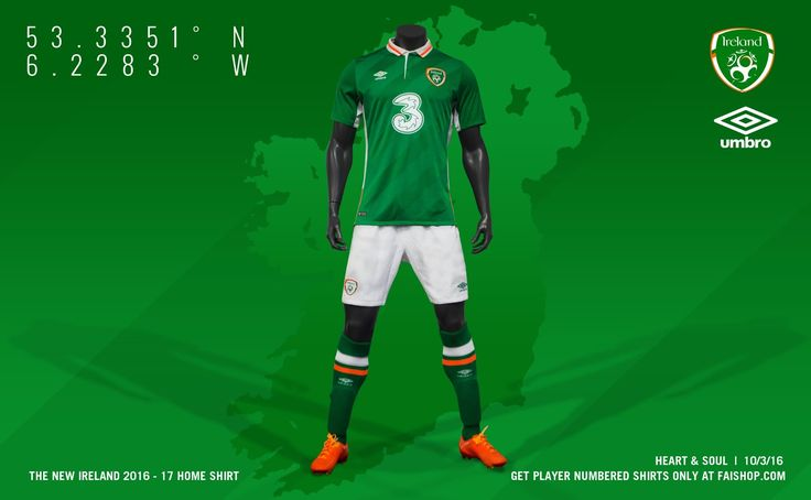 Ireland Euro 2016 Home Kit