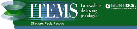 ITEMS - La Newsletter del testing psicologico