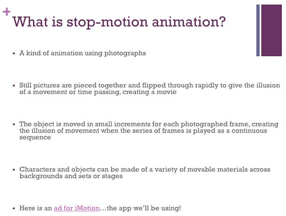 Click to download free Power Point! - A Complete Guide for Stop-Motion Animation in the Art Room