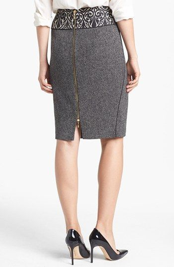 Rachel Roy Mixed Media Pencil Skirt | Nordstrom