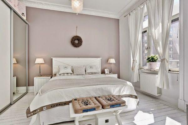 chambre aux couleurs sobres et romantiques