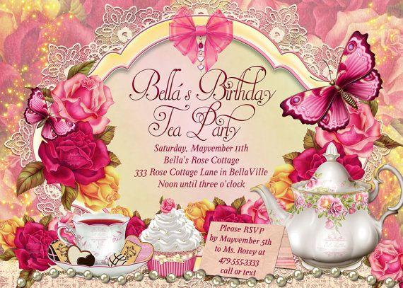 Fairy Tea Party Invitation Birthday Tea Party Tea by BellaLuElla, $13.00