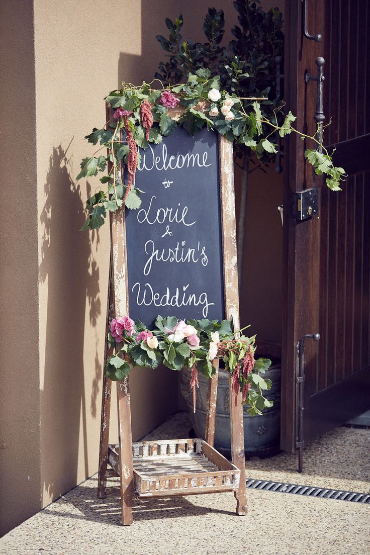 Welcome Sign   Lost in Love Photography  Oollie floral   #vueonhalcyon #yarravalley #wedding #weddingvenue