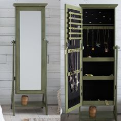 Belham Living Locking Cheval Mirror Jewlery Armoire - Add a charming, rustic look to your decor with the Belham Living Locking Cheval Mirror Jewelry Armoire . Crafted from MDF wood and wood veneers this...