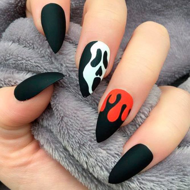 65 Super Stylish Halloween Nails That Will Blow Your Mind Halloween Nails Easy Halloween Nail Designs Autumn Nails