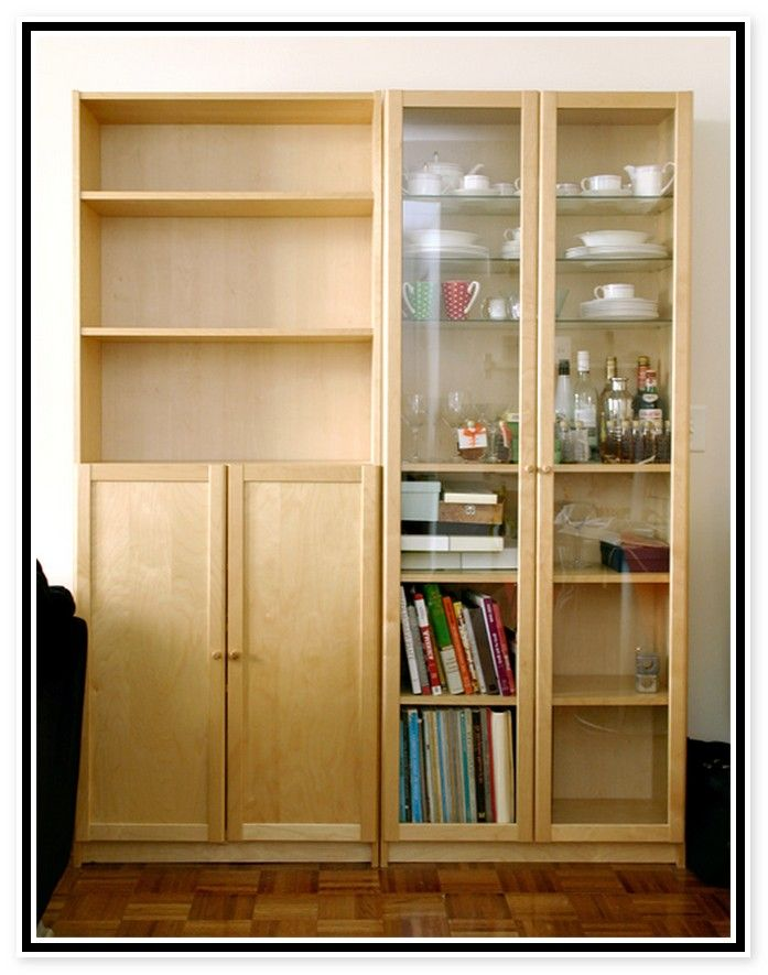 Ikea Billy Bookcases With Doors  Home Decor  Pinterest