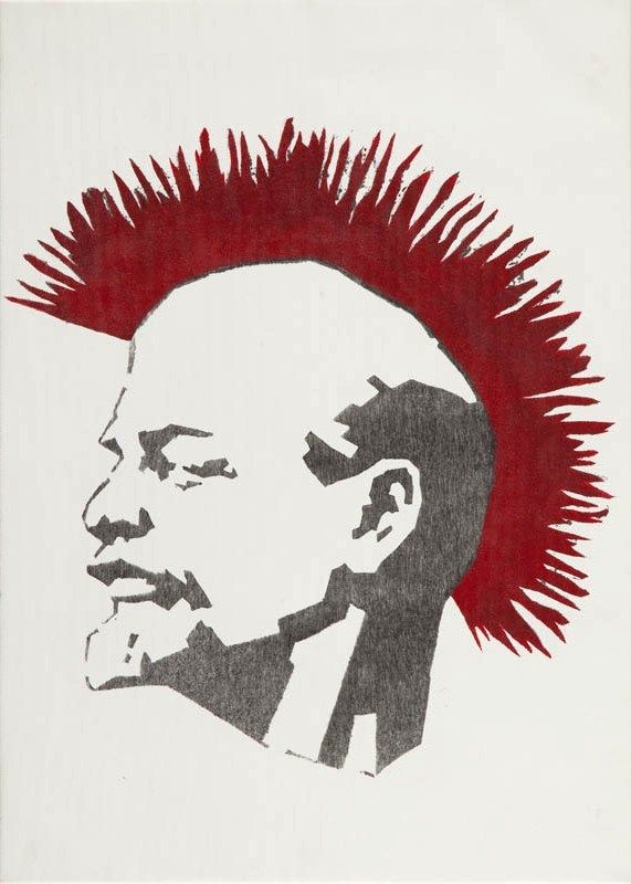 Dariusz Paczkowski: Lenin; 1987/2012, canvas print, 50 x 70 cm. Lenin was an icon of polish freedom movements in 80s. Copied by hundreds artists, has covered many walls and clothes. The pattern was also used by music group - Big Cyc's, as a cover their new album which was released on the 25th anniversary of the group