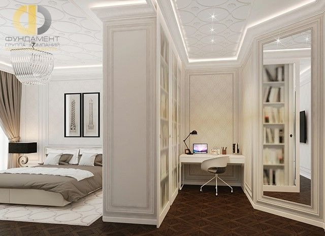 Интерьер кабинета в стиле ар-деко.