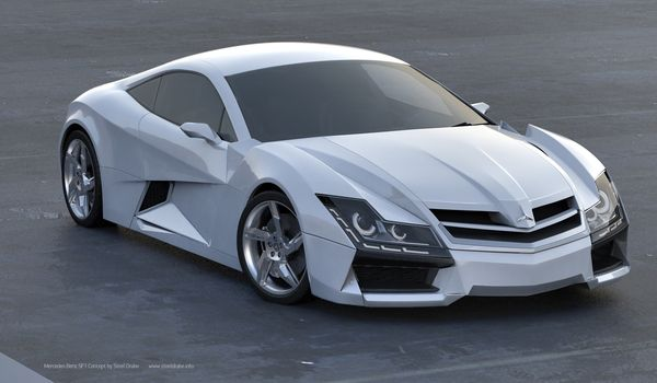 Mercedes Benz SF1 Concept Car by Steel Drake  follow www.instagram.com/whipsnbikechains we feature all the hottest Cars and Car King Collectors in the World. Follow everyone on our list!!!