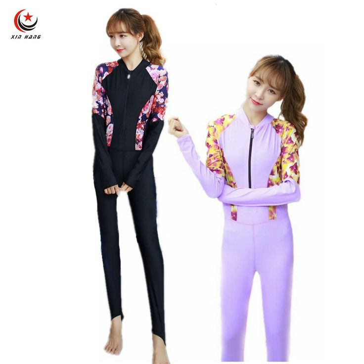Womens Diving Wetsuits Long Sleeve One-piece Swimwear Swimming Suit Quick Dry Water Snorkeling Suit Amateur Diving Suit M-XXL
