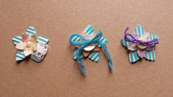 Fiore di carta Turquoise. Per scrabooking smash book e by Hebina, €3.00