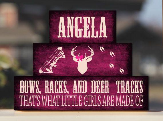 Bows Racks and Deer Tracks Baby Girl Nursery Deer Antler Camo