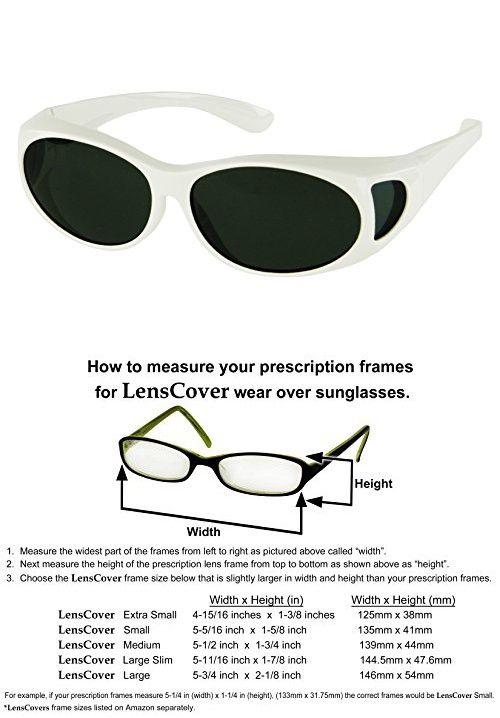 524908e85d LensCovers Sunglasses Wear Over Prescription Glasses-Small Size-White