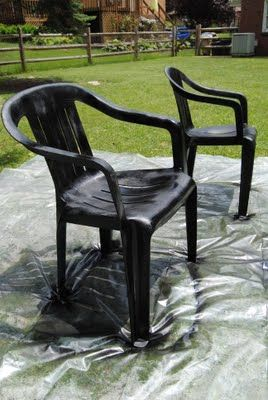 Painting Plastic Chairs 9 best spray painting chairs images on pinterest | spray painting