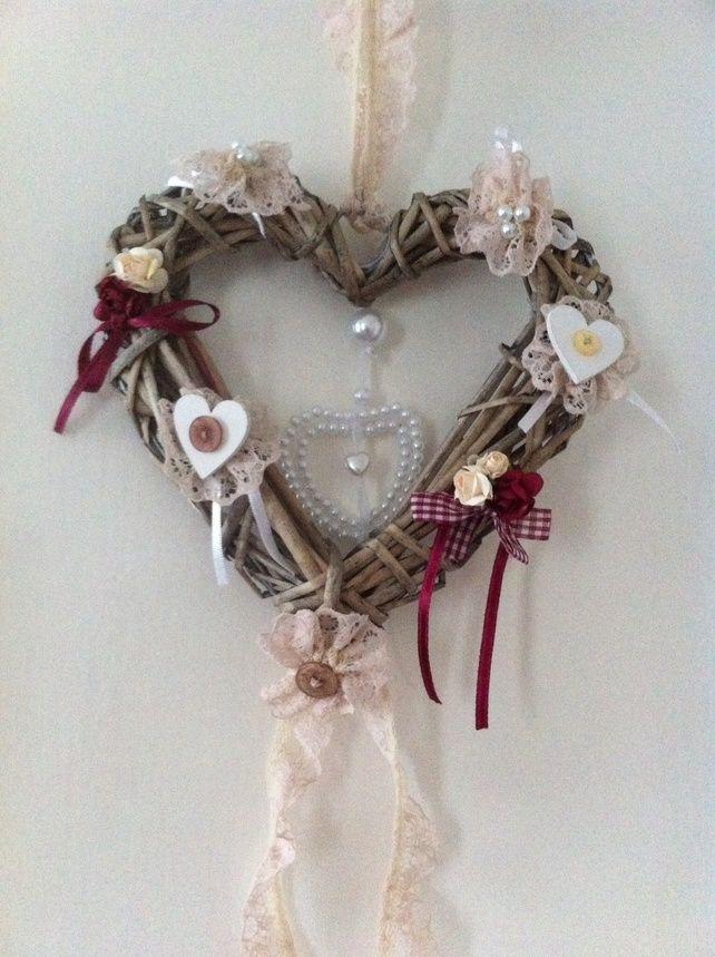 Wicker heart wreath £12.00