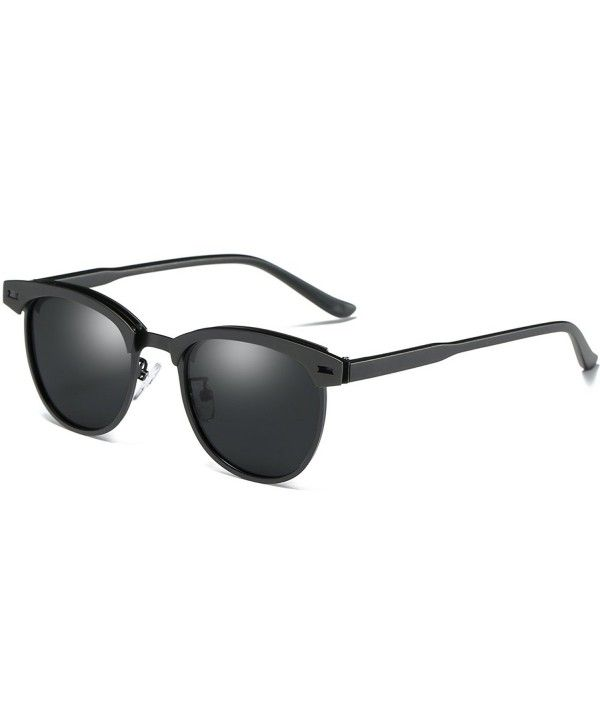 97cfdf9841 Buy Semi Rimless Polarized Sunglasses Women Men Retro Brand Sun Glasses -  Black Metal - CX183GTZ2ZX and other Sunglasses at Voguessglasses.com.