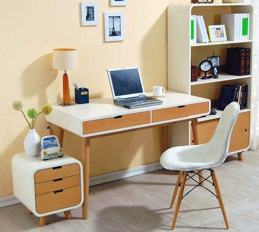 Eco Writing Desk with Mini Storage for Files