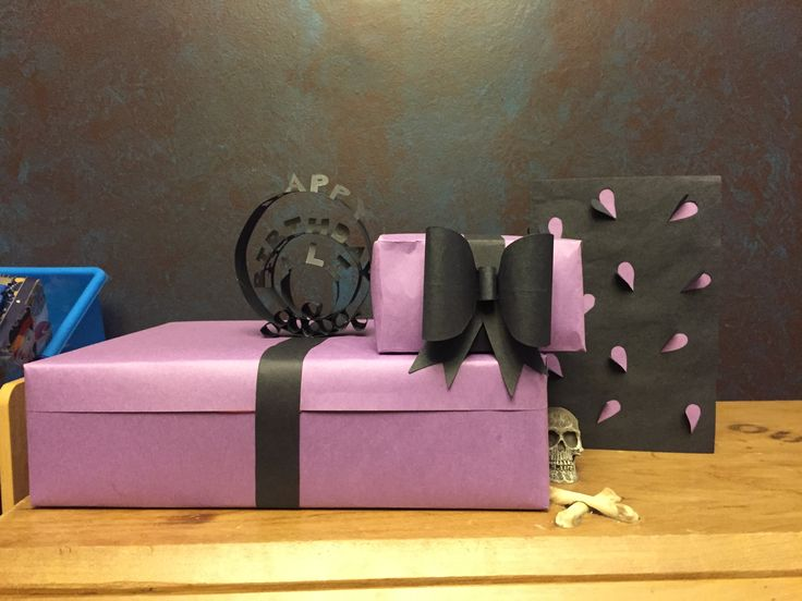 Fancy gift wrap for a bday party we went to :)