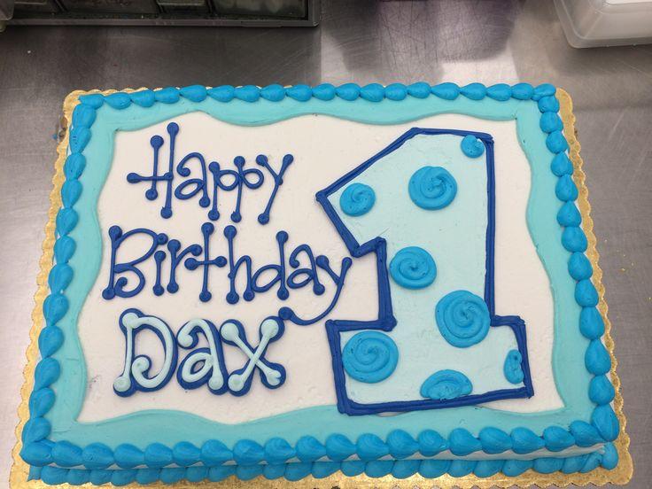 So Cute!  First Birthday Cake by Stephanie Dillon, LS1 Hy-Vee