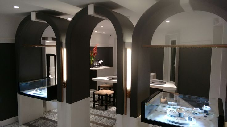 Nikos Koulis Jewels Santorini,  display, lighting and furniture design