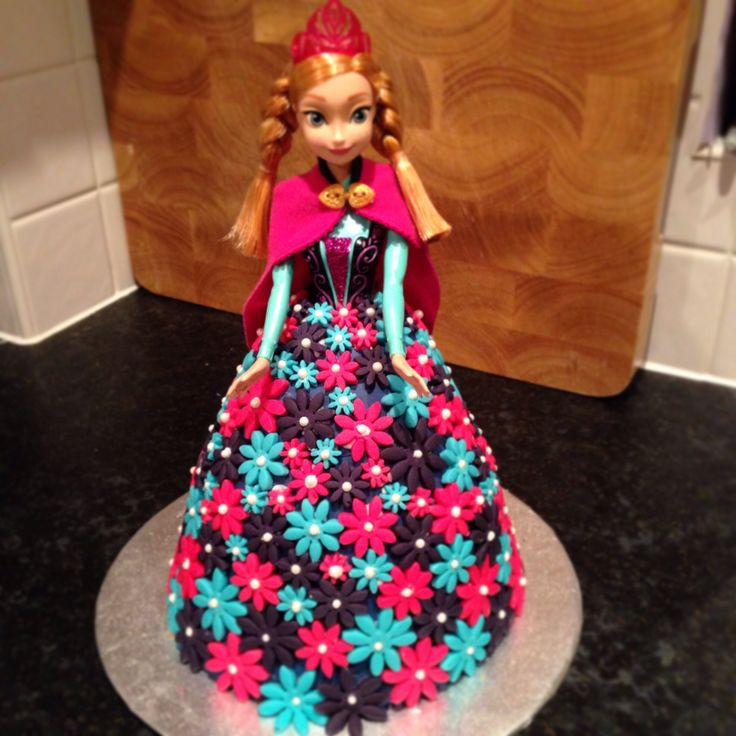 Disney Anna From Frozen Birthday Doll Cake Livvy S 4th