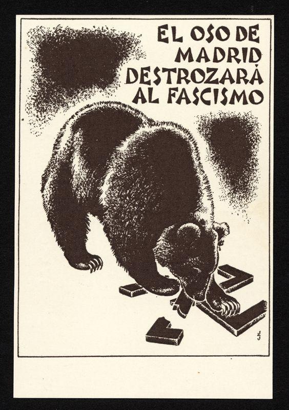 Oso de Madrid contra el fascismo