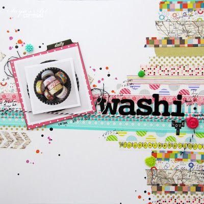 Andrine & Marens Landhandleri: Washi love layout by Dt Silje