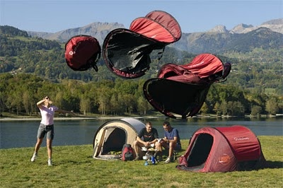 An assortment of wild tents!