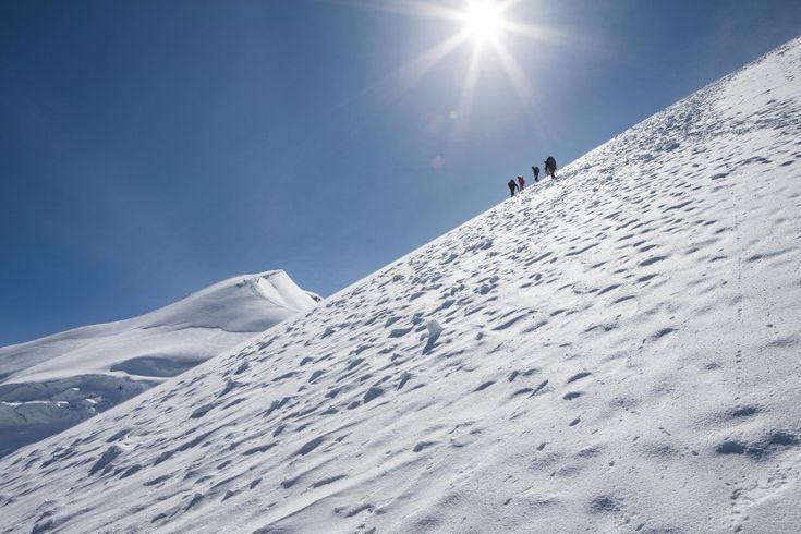 Weissmies (4017 m) Swiss Alps, Valais, Switzerland.