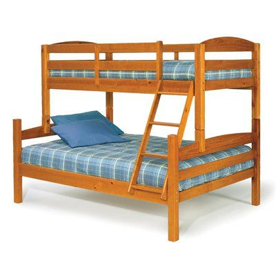 Chelsea Home 3641000 Bunk Bed #home decor sale & deals Bed Size:Twin over Full, Finish:Honey Bunk Bed Features: The rails connect to the bed ends by a metal to metal machine bolt and t-nut for a secure hol...
