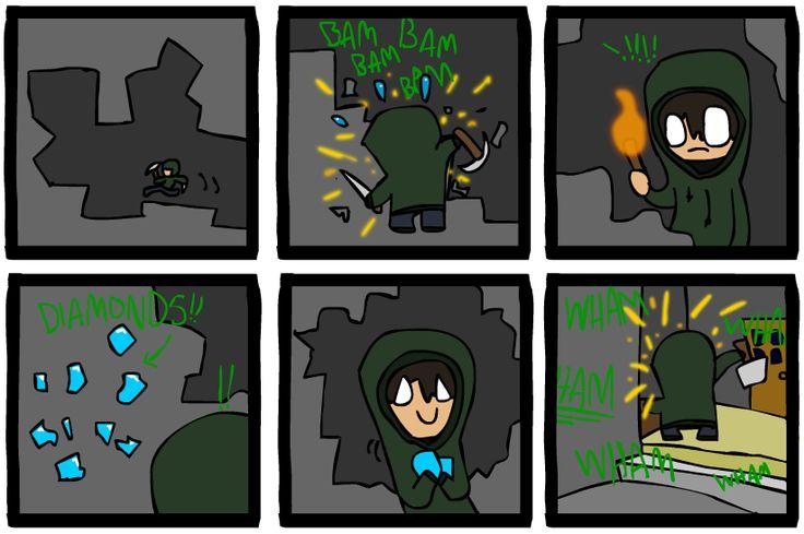 Minecraft Comic 1 by *Hraugur on deviantART