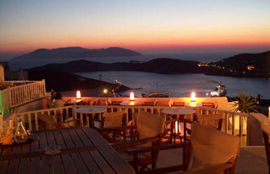 Ios Club, on the island of Ios, Greece - the place to enjoy the sunset with a cocktail or two