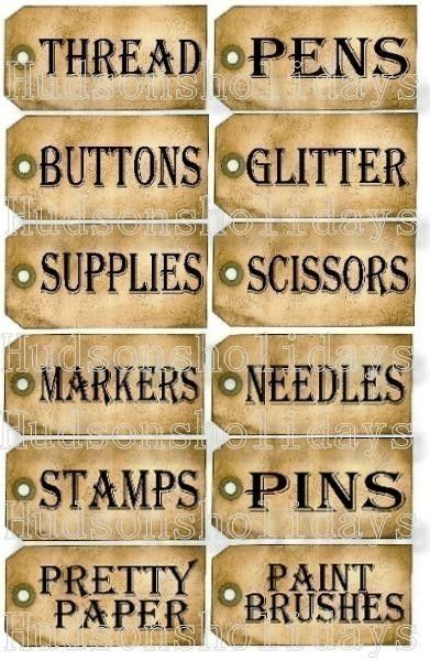 craft-sewing room tags