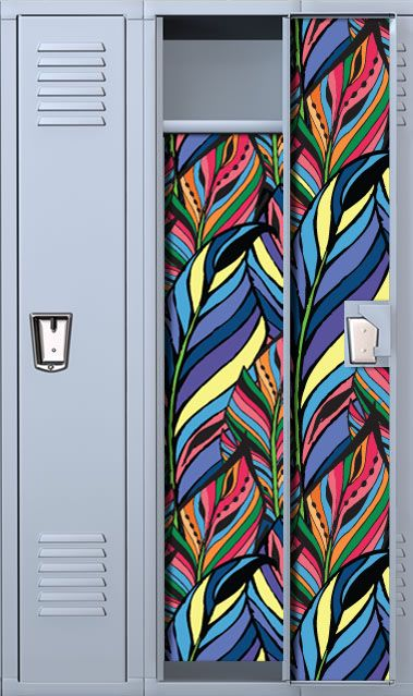 Colored Ink Feathers Locker Wallpaper
