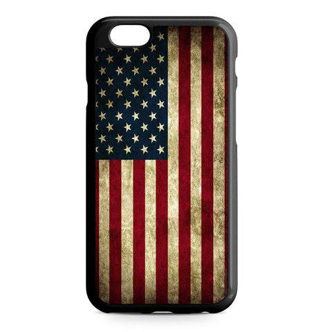American Flag iPhone Heavy Duty Case