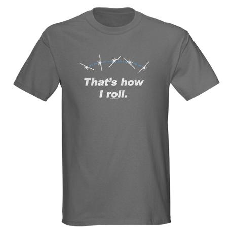Airplane Roll Dark T-Shirt