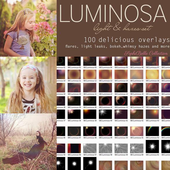 SophiBelle Collection » Luminosa Light & Hazes - Overlays Set