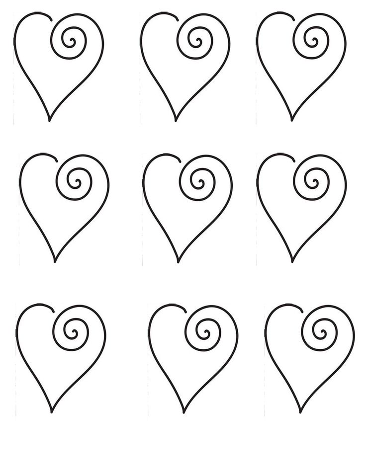 hearts for cookie or cupcake toppers