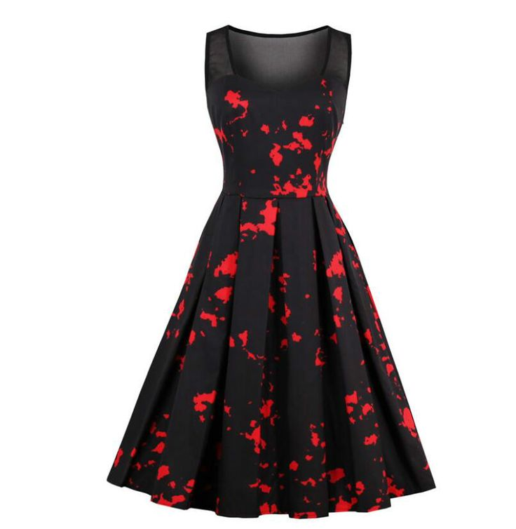 Find More Dresses Information about Gothic Dress Black Summer Sleeveless With Print Mesh O Neck Elegant Trendy Lines Slim Waistline Goth Straps Women's Dresses ,High Quality summer sleeveless,China women dress Suppliers, Cheap gothic dress from Sally's Fashion Store on Aliexpress.com