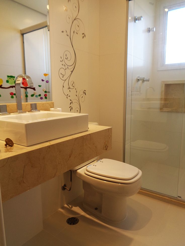 Nicho Bancada Banheiro : Banheiro infantil projetta arquitetuta obras bancada e